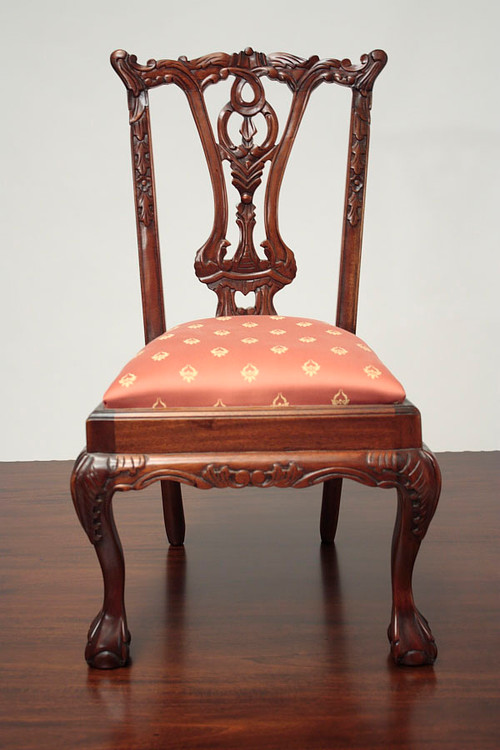 Home · Accents; Child's Chippendale Chair. Image 1 - Antique Child's Chair Laurel Crown
