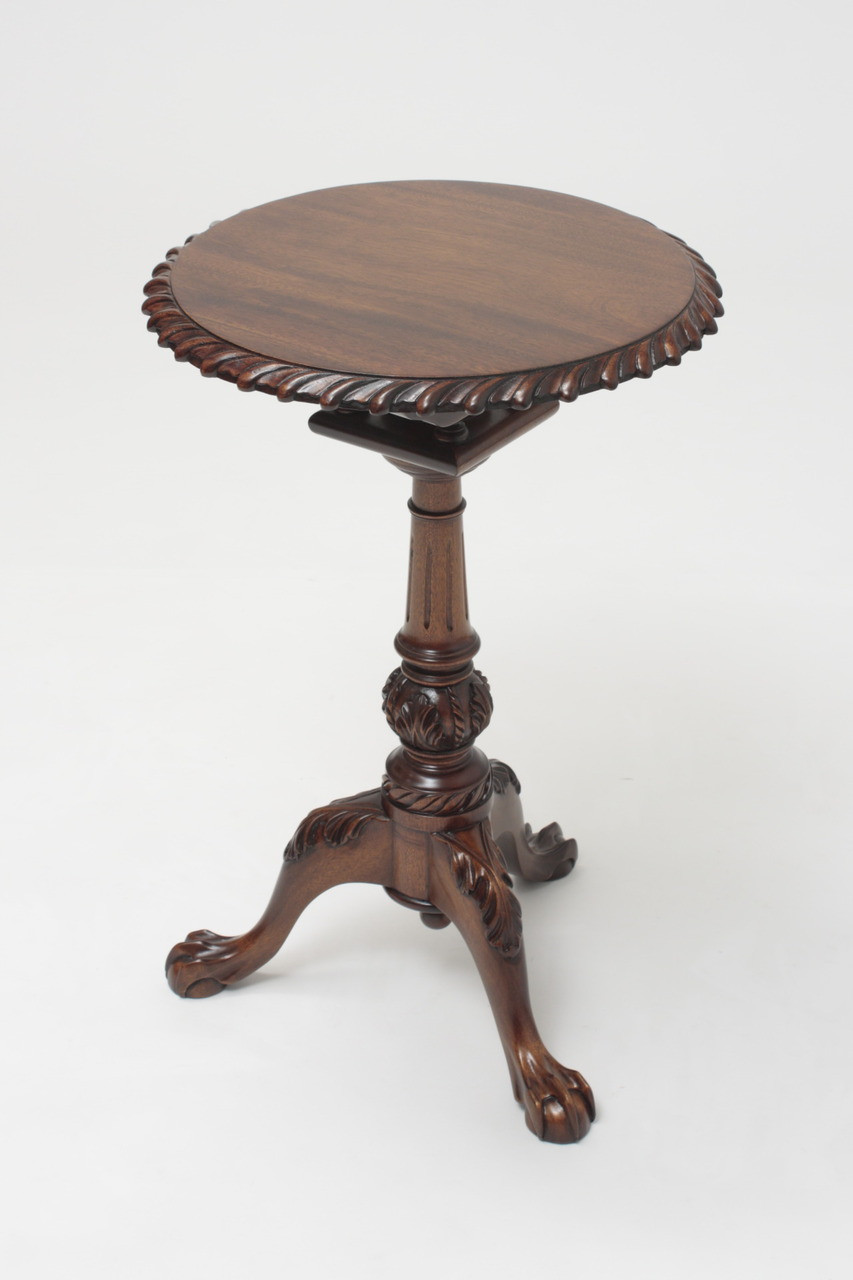 Mahogany Tilt Top Tea Table Laurel Crown