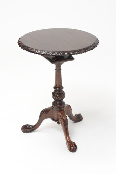 Medium Chippendale Tilt-Top Tea Table