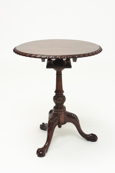 "Chippendale Tilt-Top Tea Table - 23.5"" Diameter"