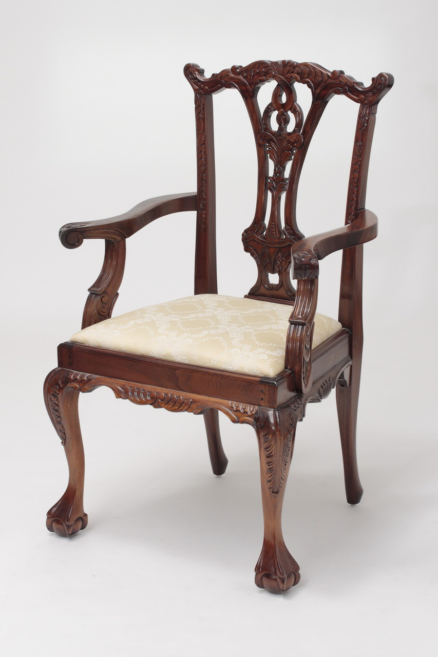 Chippendale Carver Armchairs Laurel Crown