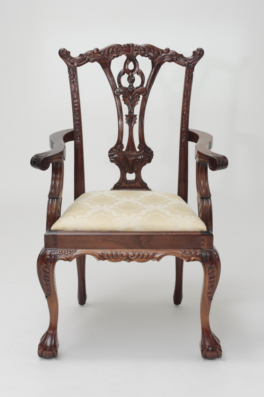 Chippendale arm chair - Chippendale Armchair With Ball And Claw Feet