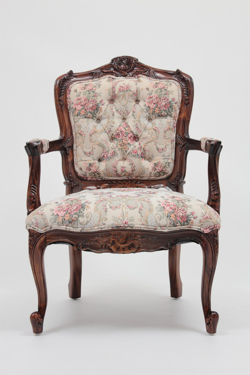 French Armchair Laurel Crown
