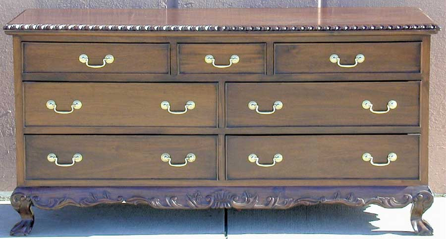 Chippendale Wide Chest Of Drawers