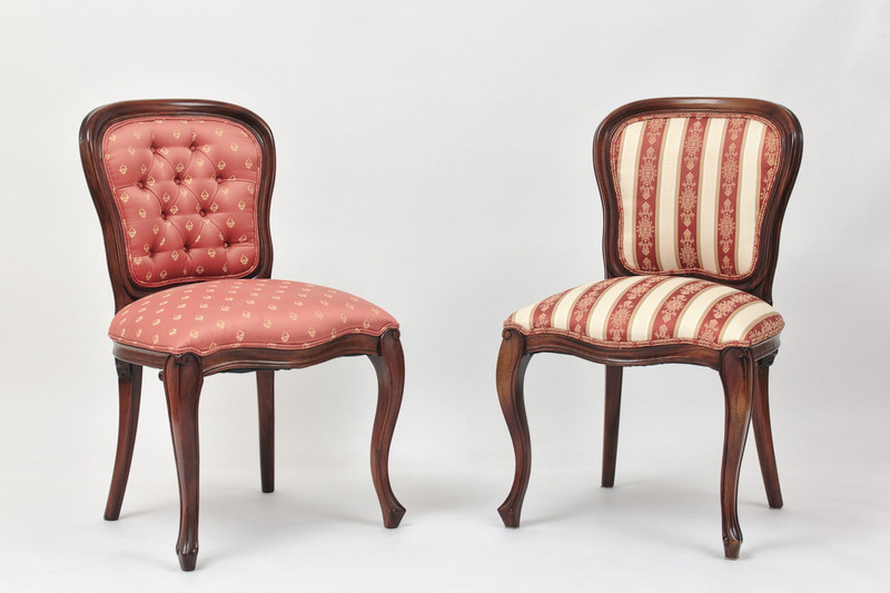 Georgian Dining Chairs with Upholstered Backs