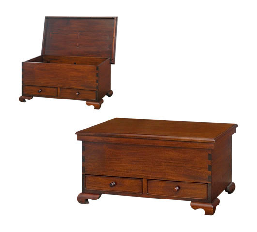 Mahogany Blanket Chest with Drawers