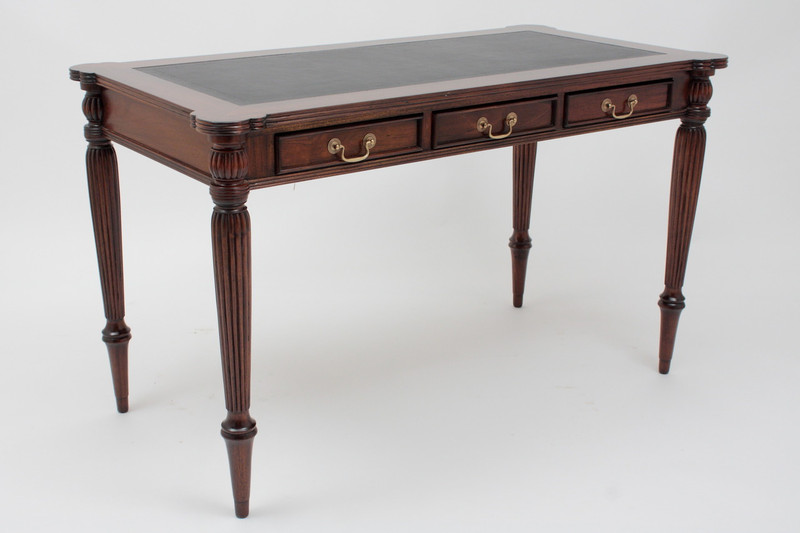 Regency Leather Top Writing Table