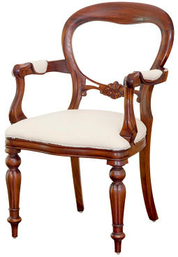 Victorian Balloon Back Armchair