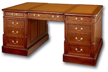 Superbe Antique Reproduction Partners Desk
