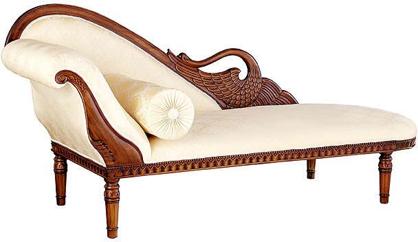 Hand Carved Swan Sofas Handmade Mahogany 3 Seater
