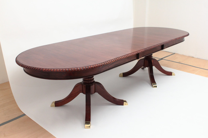 Regency Extension Dining Table With Leaf   8u0027 To ...
