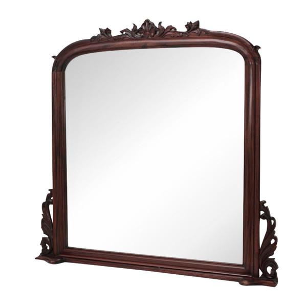 Mahogany Over-Mantel Mirror