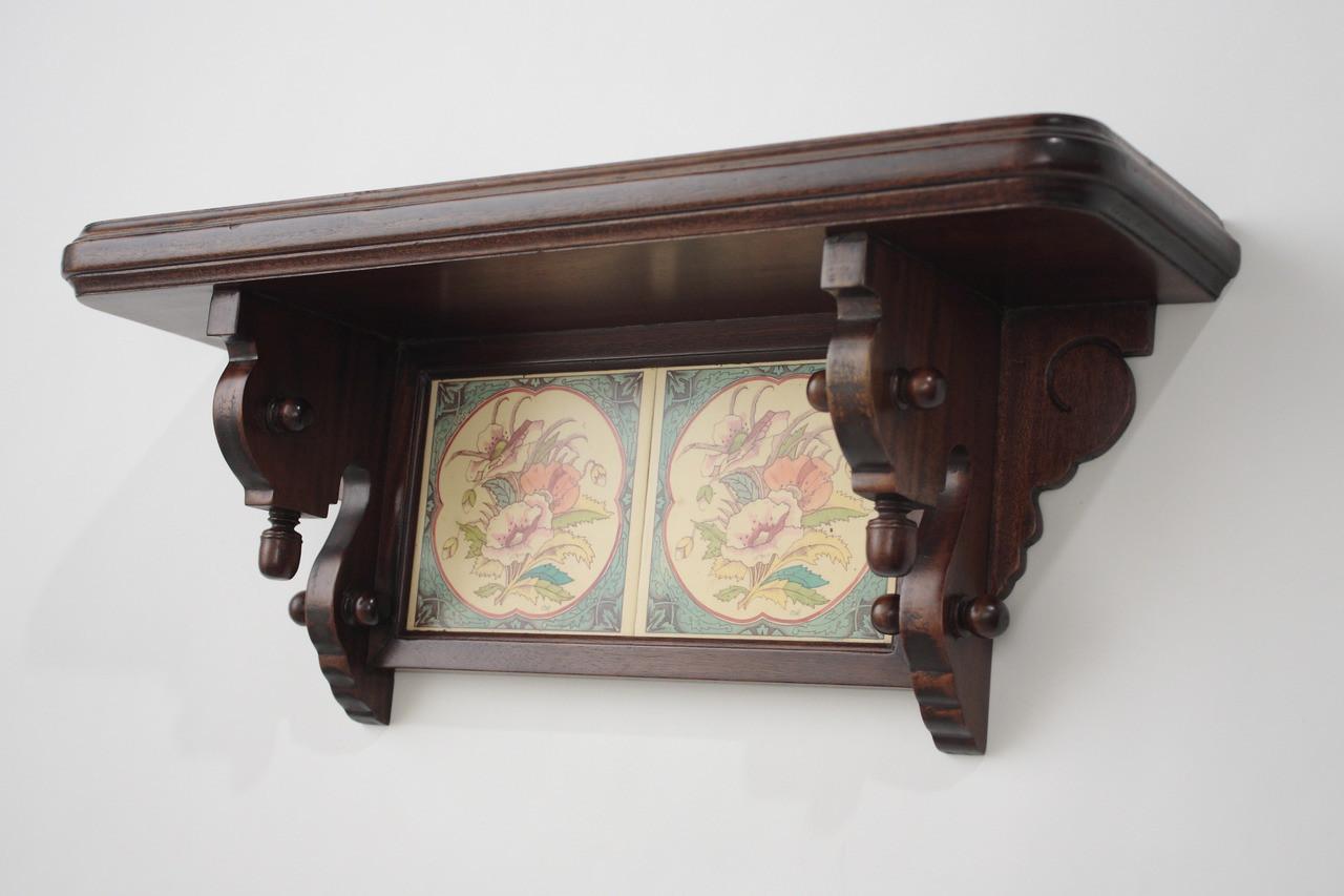 Antique Wall Shelf Laurel Crown