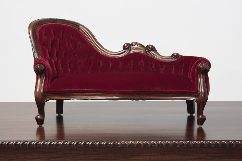 Miniature Victorian Single-End Show-Frame Sofa