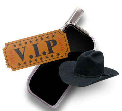 Get a VIP pass with your Cue Device!