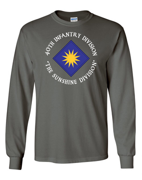 40th Infantry Division Long-Sleeve Cotton T-Shirt (C)(FF)