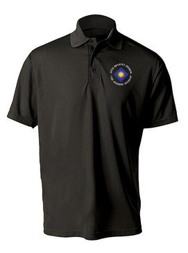 40th Infantry Division Embroidered Moisture Wick Polo Shirt (C)