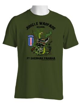 193rd Infantry Brigade (Airborne)  Jungle Master Cotton T-Shirt