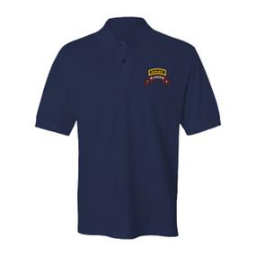 3-75 Ranger Battalion w/ Tab Embroidered Cotton Polo Shirt