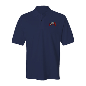 "2-75 Ranger Battalion ""Original Scroll""  Embroidered Cotton Polo Shirt"