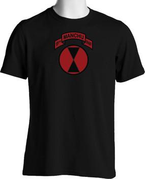 "7th Infantry Division ""Manchus"" (Chest)  Cotton Shirt"