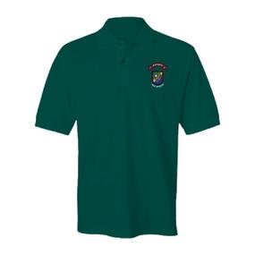 "1-75 Ranger Battalion ""New Flash""  Embroidered Cotton Polo Shirt"