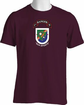"1-75 Ranger Battalion ""Old Flash"" & ""New Scroll""   (Chest)  Cotton Shirt"