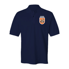 "82nd Signal Battalion ""Flash & Crest""  Embroidered Cotton Polo Shirt"