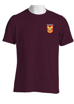 """3/4 ADA Battalion (Airborne)  """"Flash & Crest""""  (Pocket) Cotton Shirt"""