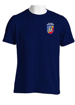 "1- 82nd Aviation ""Crest & Flash"" (Pocket)Cotton Shirt"