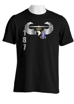 101st w/ 187th Regimental Combat Team  Crest Cotton Shirt