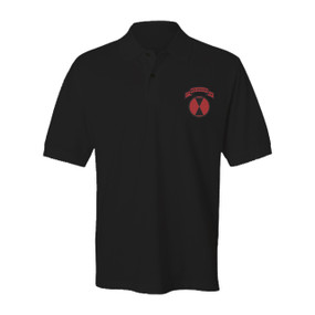 """27th Infantry Regiment """"Wolfhounds"""" (Full-Color) Embroidered Cotton Polo Shirt"""
