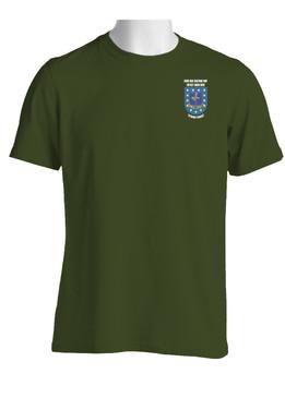 """2-502nd Parachute Infantry Regiment """"Crest & Flash"""" Cotton Shirt"""