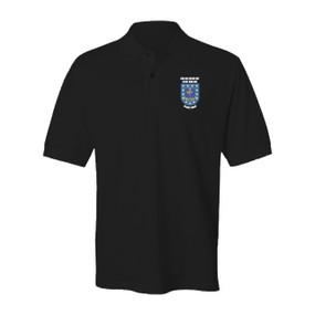 "2-502nd Parachute Infantry Regiment ""Crest & Flash"" Embroidered Cotton Polo Shirt"