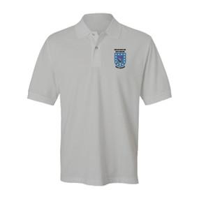 "2-506th Parachute Infantry Regiment  ""Crest & Flash"" Embroidered Cotton Polo Shirt"