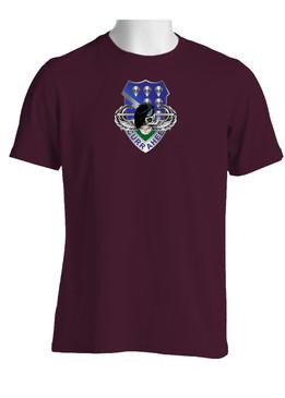 """506th Parachute Infantry Regiment """"Skull & Beret"""" (Chest) Cotton Shirt"""