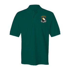 101st Airborne Division Embroidered Cotton Polo Shirt (1)