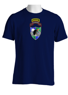 2-75 Ranger Battalion DUI-Black Beret w/ Ranger Tab (Chest)  Cotton Shirt