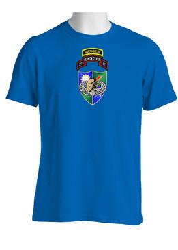 2-75 Ranger Battalion DUI-Tan Beret  w/ Ranger Tab (Chest)  Cotton Shirt