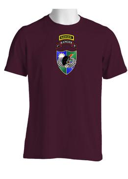 1-75 Ranger Battalion DUI-Black Beret  w/ Ranger Tab (Chest)  Cotton Shirt