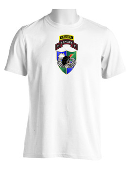 2-75th DUI Black Beret w/ Ranger Tab (CHEST) Moisture Wick