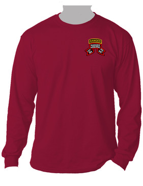 "1-75th Ranger Battalion ""Original Scroll"" w/ Ranger Tab Long-Sleeve Moisture Wick (P)"