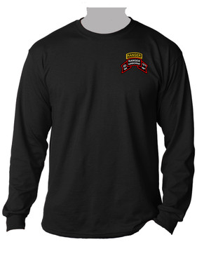 "2-75th Ranger Battalion ""Original Scroll"" w/ Ranger Tab Long-Sleeve Moisture Wick (Pocket)"