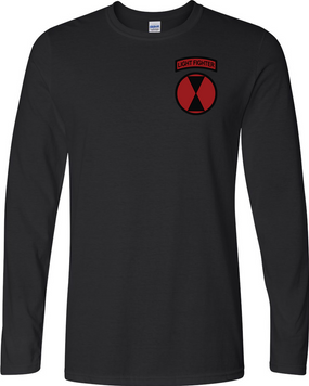 """7th Infantry Division """"LIGHT FIGHTER""""  Long-Sleeve Cotton Shirt (P)"""