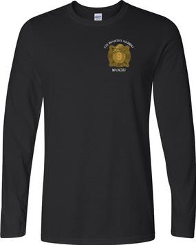 """9th Infantry Regiment """"MANCHUS""""  Long-Sleeve Cotton Shirt (P)"""