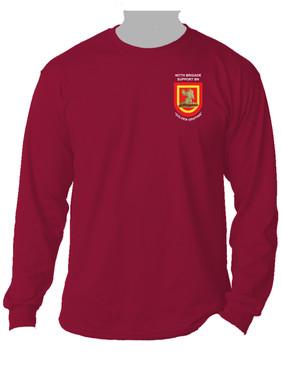 407th Brigade Support Battalion Crest & Flash Long-Sleeve Cotton Shirt