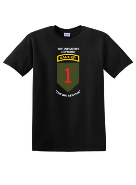 1st Infantry Division w/ Ranger Tab  Cotton T-Shirt-(FF)
