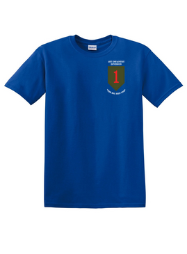 1st Infantry Division Cotton T-Shirt-(P)