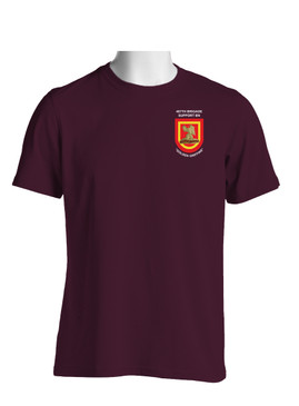 "407th Brigade Support Battalion ""Flash & Crest""  Cotton T-Shirt-(P)"