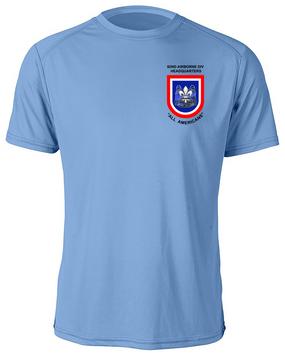 "82nd Hqtrs & Hqtrs Battalion ""Crest & Flash""  Moisture Wick Shirt (P)"